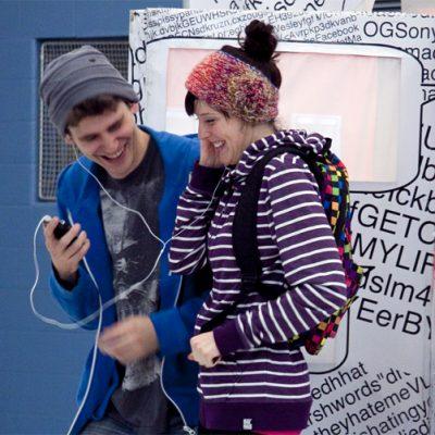 Carl and Sonya sharing music—young love!