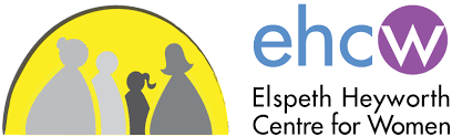 The logo for the Elspeth Heyworth Centre for Women.