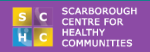 The logo for the Scarborough Centre for Healthy Communities.