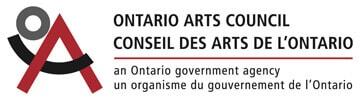The logo for the Ontario Arts Council Conseil des Arts de L'Ontario.