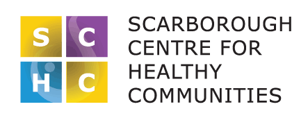 The logo for Scarborough Centre for Healthy Communities.
