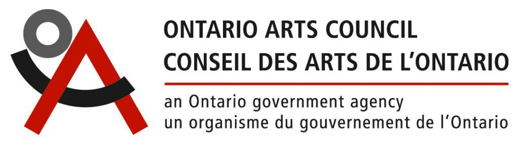 The logo for the Ontario Arts Council/Counseil des arts de l'Ontario.